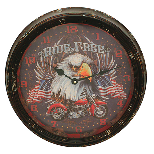 Rivers Edge Products Motorcycle Metal Clock 15