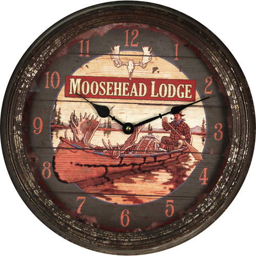 Rivers Edge Products Moosehead Metal Clock 15