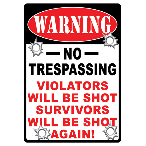 Rivers Edge Products Warning-no Trespassing Tin Sign 1525