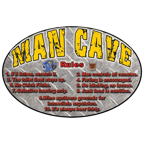 Rivers Edge Products Man Cave Tin Sign  1527
