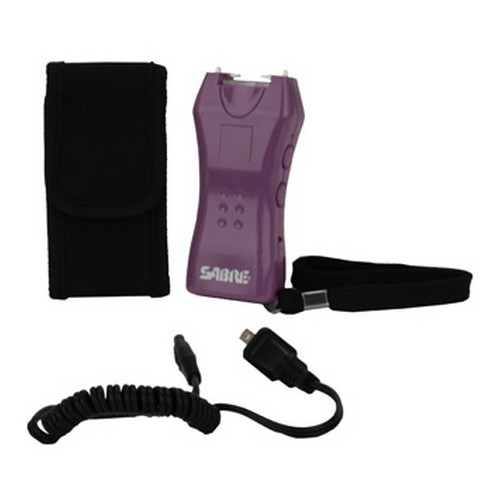 Sabre 600,000V Mini Stun Gun w/Holster Purple S-1005-PR