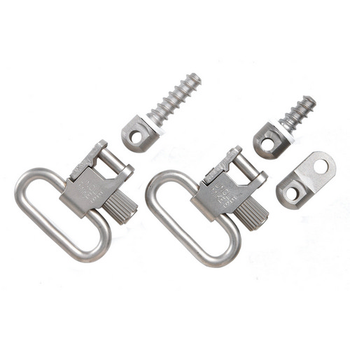 Uncle Mikes QD115 Nickel-Plated Ruger Swivels 14622
