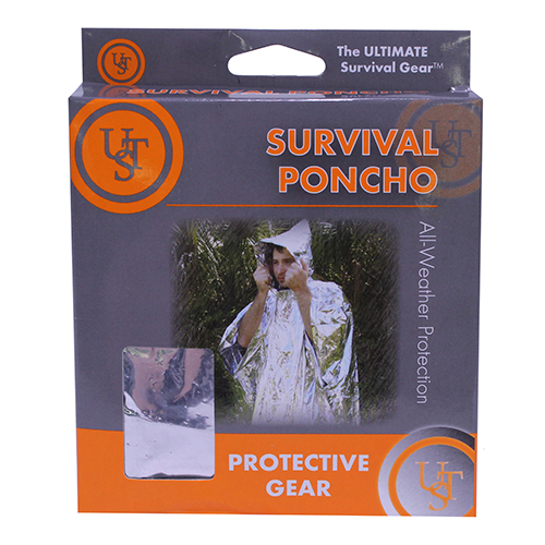 Ultimate Survival Technologies Survival Reflect Poncho, Silver 20-190-1000