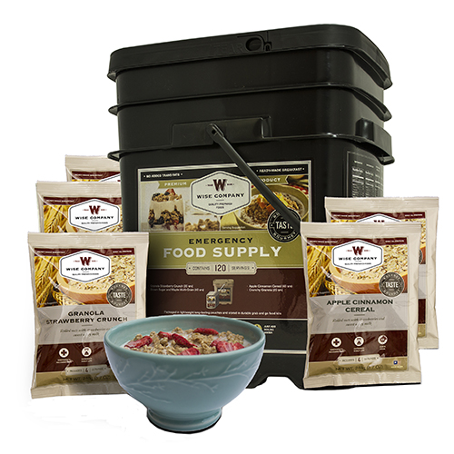 Wise Foods Breakfast Only Grab&Go Bucket 120 Serving 01-121