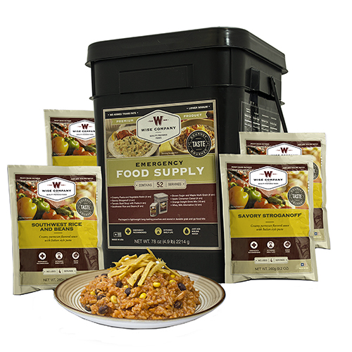 Wise Foods Prepper Pack Emergency Meal Kit Bucket 01-152