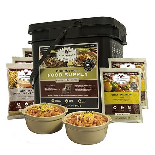 Wise Foods Breakfast&Entrée Grab&Go Bucket 56 Srvng 01-156