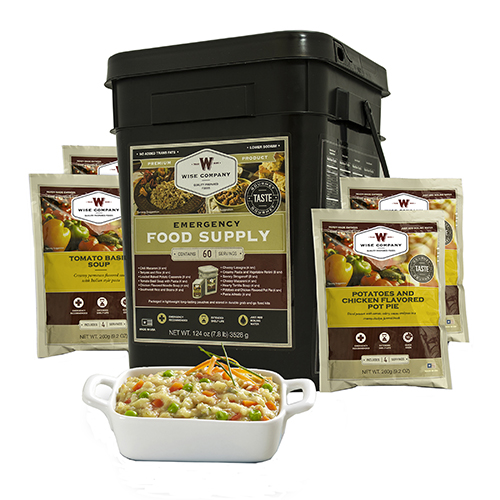 Wise Foods Entrée Only Grab&Go Bucket 60 Serving 01-160
