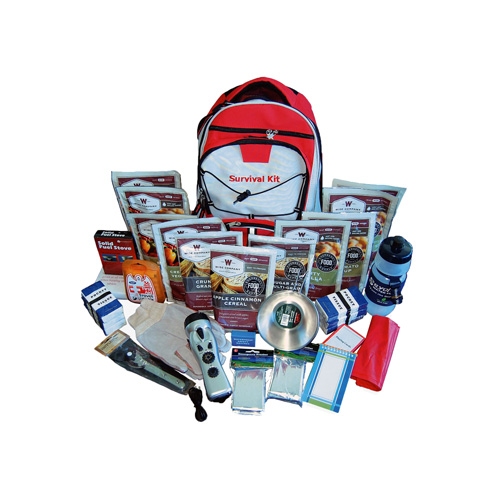Wise Foods 2 Week Essential Survival Backpack (Red) 01-601