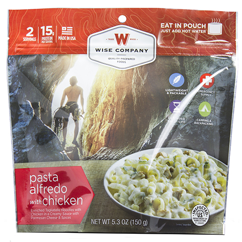 Wise Foods Outdoor Pasta Alfredo with Chicken 03-902