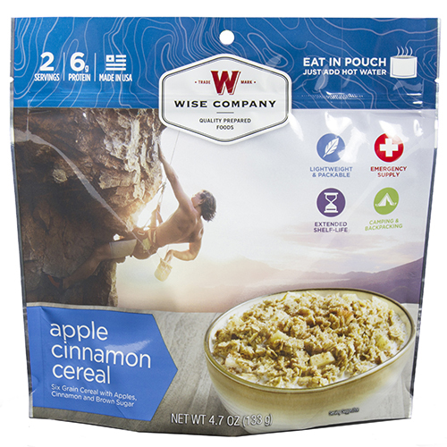 Wise Foods Outdoor Apple Cinnamon Cereal 03-908