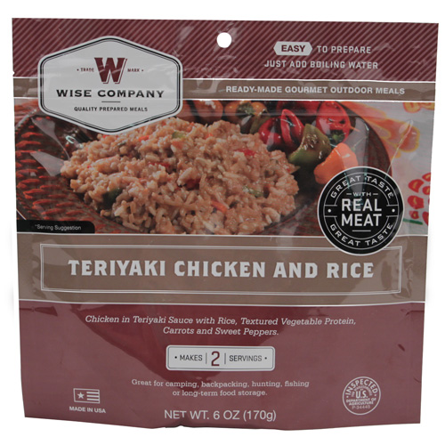 Wise Foods Teriyaki Chicken w/Rice 2 Serving Pouch 03-703