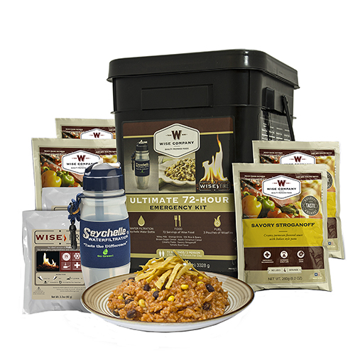 Wise Foods Ultimate 72 Hou Emergency Kit Filter/Fire 05-715