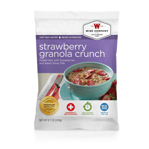 Wise Foods Strawberry Granola Crunch  (4 srv) 2W02-216