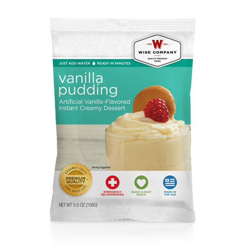 Wise Foods Vanilla Pudding  (4 srv) 2W02-409