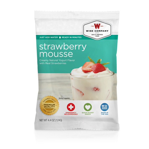Wise Foods Strawberry Mousse  (4 srv) 2W02-410