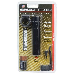 Maglite 3-Cell Tactical Blister Pack ,Black XL50-S301C