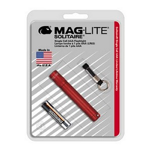 Maglite AAA Solitaire Blister Pak, Dk Red K3A036