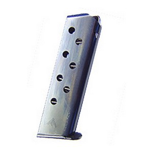 Mecgar 32 ACP, 8 Round, Flat Butt Plate, Blue MGWPP32STB