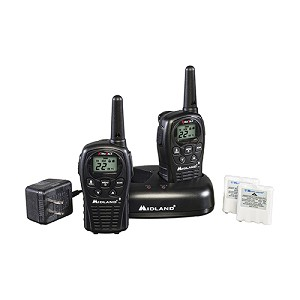 Midland Radios FRS/GMRS 22 Ch/24Mi Batteries/Charger /2 LXT500VP3