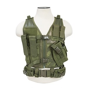 NcStar Tactical Vest Childrens/Green XS-S CTVC2916G
