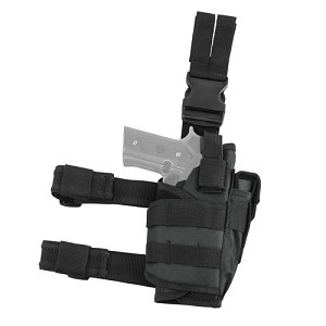 NcStar Vism Drop Leg Tactical Holster - Black CVDLHOL2955B