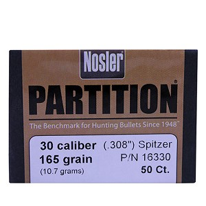 Nosler 30 Cal 165gr Sp Partition (50 ct) 16330