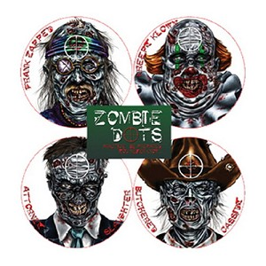 TargDots Zombie Variety Pack (12/Pk),Zombie Target 4026308