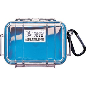 Pelican 1010 Micro Case, Clear Top Blue 1010-026-100