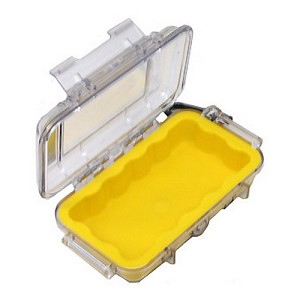Pelican 1015 Micro Case, Clear Top Yellow 1015-007-100