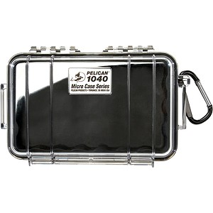 Pelican 1040 Micro Case, Clear Top Black 1040-025-100