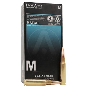 PNW Arms 7.62x51 NATO Sniper 175gr HPBT /20 279-R002