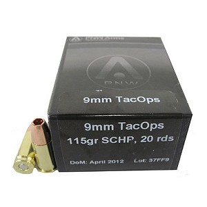 PNW Arms 9mm TacOps 115gr Solid Copper HP /20 120-R001