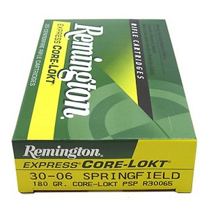 Remington 27828 30-06 180gr PSP CoreLokt R30065