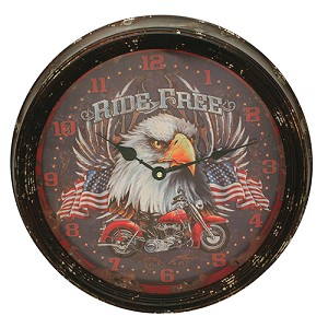 "Rivers Edge Products Motorcycle Metal Clock 15"" 1027"