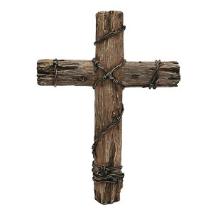 "Rivers Edge Products 14"" Wooden Wire Cross 1041"