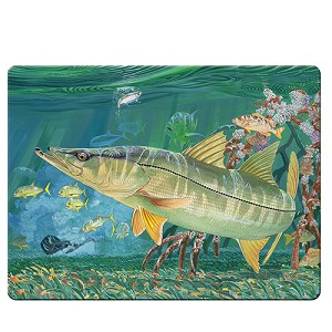 Rivers Edge Products Snook Glass Cutting Board - Guy Harvey 1230