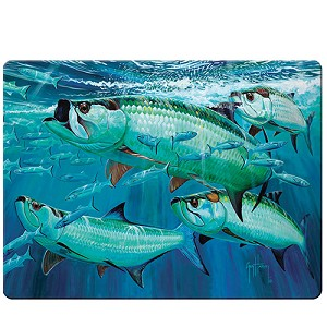 Rivers Edge Products Tarpon Glass Cutting Board - Guy Harvey 1234