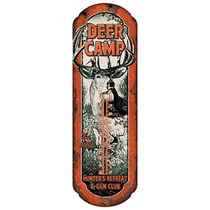 Rivers Edge Products Deer Camp Tin Thermometer 1294