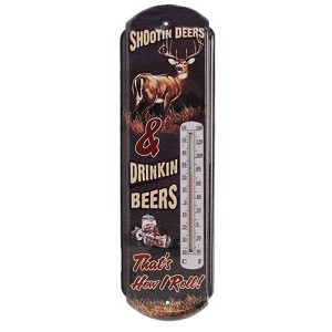 Rivers Edge Products Shootin' Deers Tin Thermometer 1339