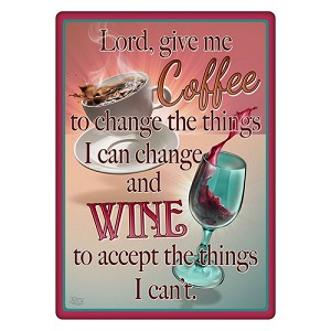 Rivers Edge Products Lord Give Me Coffee Tin Sign 12x17 1442