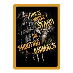 Rivers Edge Products Shootin' Animals Tin Sign 1479