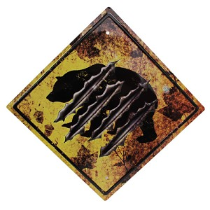 "Rivers Edge Products Bear  Crossing Tin Sign 11.5"" X 11.5"" 1486"