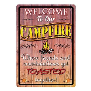 Rivers Edge Products Welcome To Our Campfire Tin Sign 1492