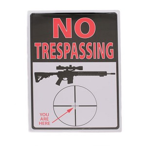 "Rivers Edge Products Trespassing You're Here Tin Sign 16"" 1498"