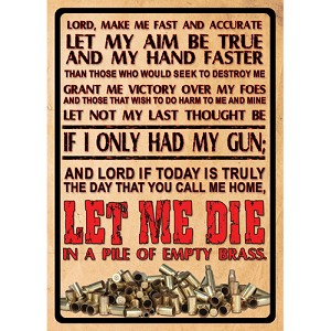 "Rivers Edge Products Lord's Prayer Tin Sign 16"" 1500"