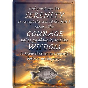 "Rivers Edge Products Serenity, Courage, Wisdom Sign 12""x17"" 1514"