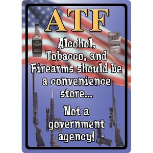 "Rivers Edge Products Atf Tin Sign 12""x17"" 1517"