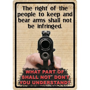 Rivers Edge Products The Right To Keep & Bear Arms Tin Sign 1528