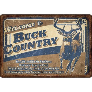 "Rivers Edge Products Buck Country Tin Sign 12""x17"" 1534"