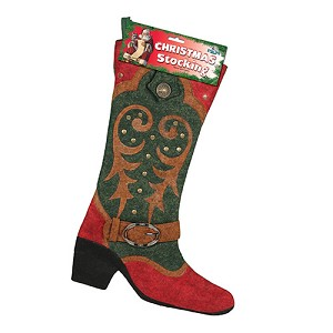 Rivers Edge Products Cowboy  Boot Christmas Stocking 1726